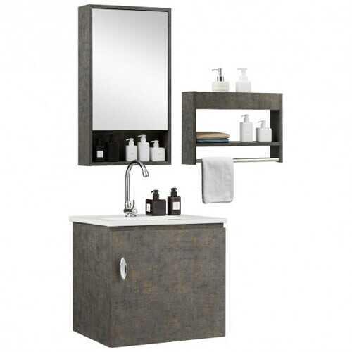 Modern Wall-mounted Bathroom Vanity Sink Set