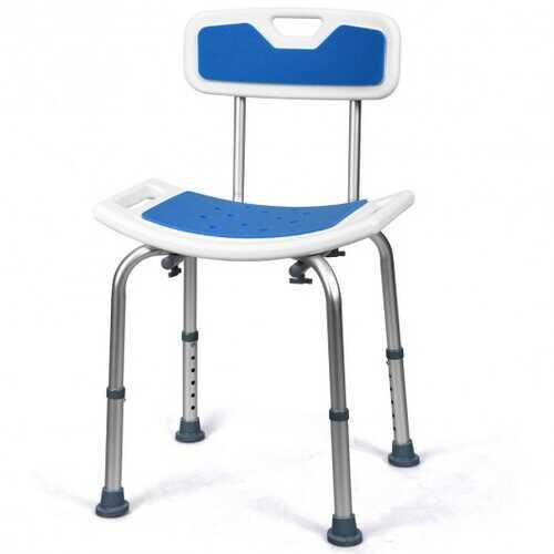 Shower Bath Chair 6 Adjustable Height Non-Slip Bathtub Stool