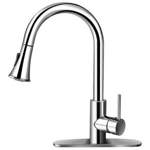 Kitchen Faucet Single Handle Brushed Nickel