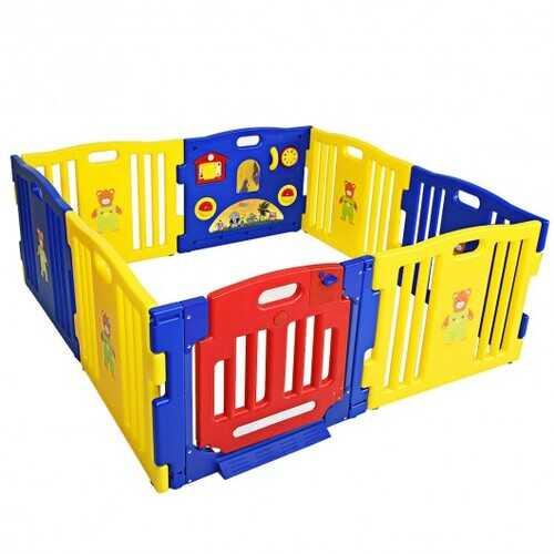 Baby Playpen Kids 8 Panel Safety Play Center Yard