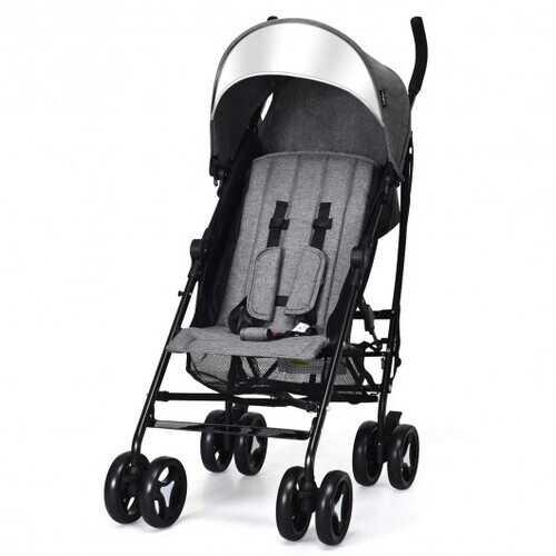 Foldable Lightweight Baby Infant Travel Umbrella Stroller-Dark Gray