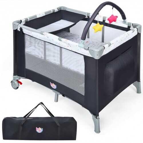 Portable Baby Playard Playpen Nursery Center with Mattress