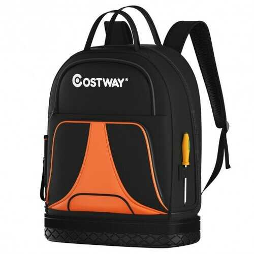 Tool Backpack Heavy Duty Jobsite Tool Bag 33 Pockets