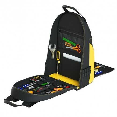 Tool Backpack Heavy Duty Jobsite Tool Bag 48 Pockets