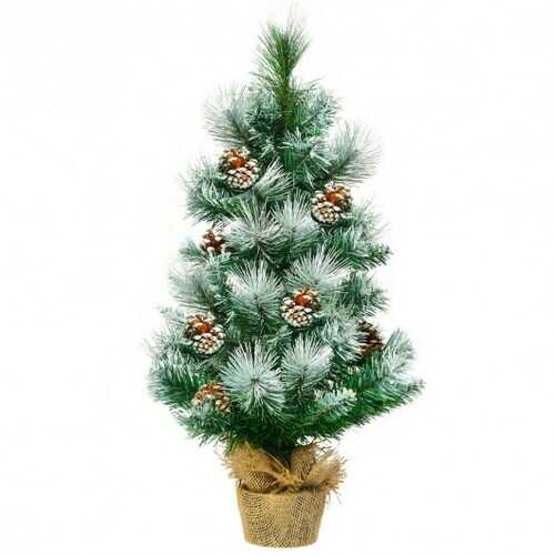 "24"" Snow Flocked Artificial Christmas Tree"