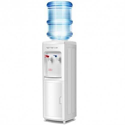 5 Gallons Hot and Cold Water Cooler Dispenser with Child Safety Lock and Compression Refrigeration Technology