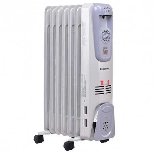 1500W Portable Space Heater with Adjustable Thermostat with 3 Heat Settings and Tip-Over Protection