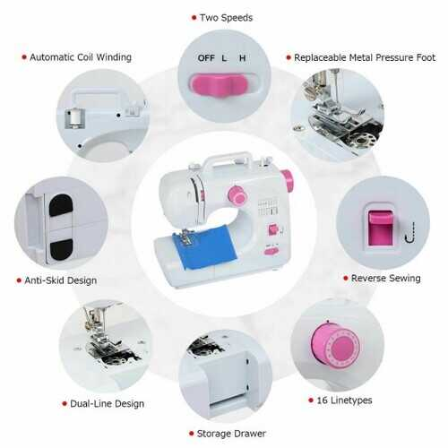 2-Speed Multi-function Fashion Portable Sewing Machine