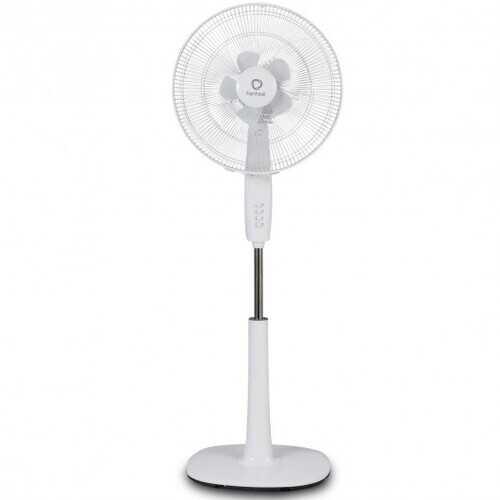 "Fantask 16"" 3 Speed Double Blades Oscillating Pedestal Fan-White"