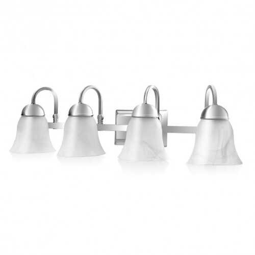 Bath Light 4-Light LED Brushed Nickel Vanity