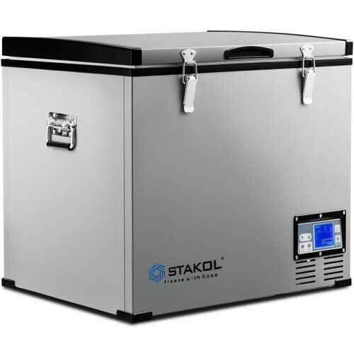 63-Quart Portable Compressor Camping Electric Car Cooler