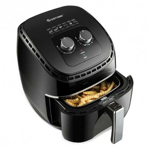 3.5 QT Electric 1300W  Hot Air Fryer with Timer& Temperature Control