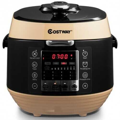 12-in-1 Multi-use Programmable Electric Pressure Cooker Non-stick Pot-Coffee