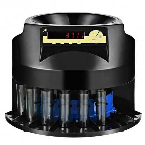 Auto Coin Sorter Dispenser Counting with Coin Tubes & LED Display