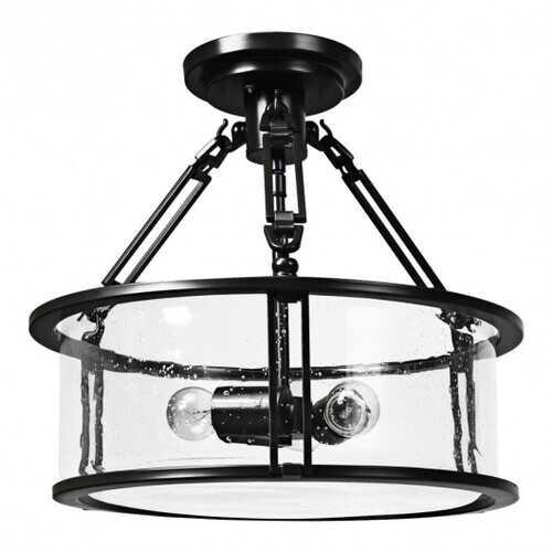 """16"""" 3-Light Flush Mount Ceiling Light"""