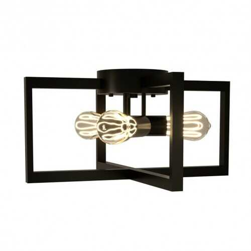 Flush Mount Geometric Metal 3-Lights Ceiling Lamp