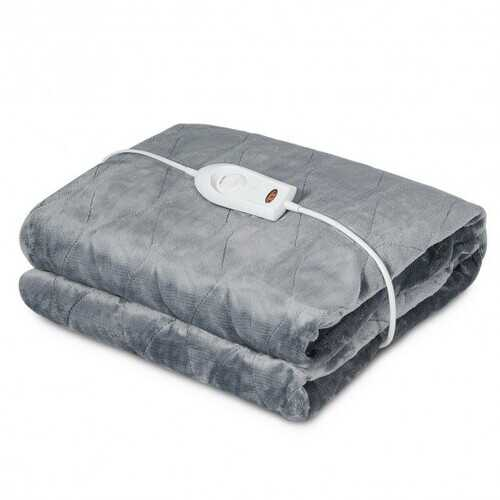 Flannel Electric Blanket Heated Throw with 3 Heat Settings