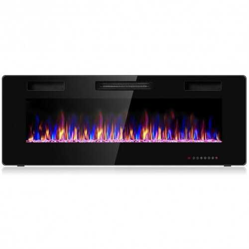 50 inch Recessed Ultra Thin Wall Mounted  Electric Fireplace with Timer