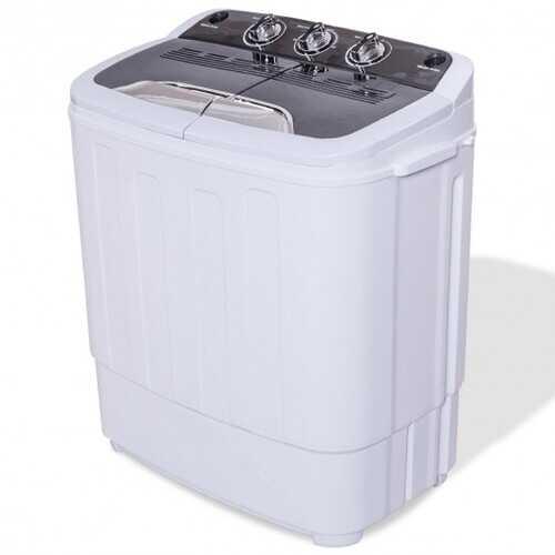 8 Lbs Compact Mini Twin Tub Washing Spiner Machine