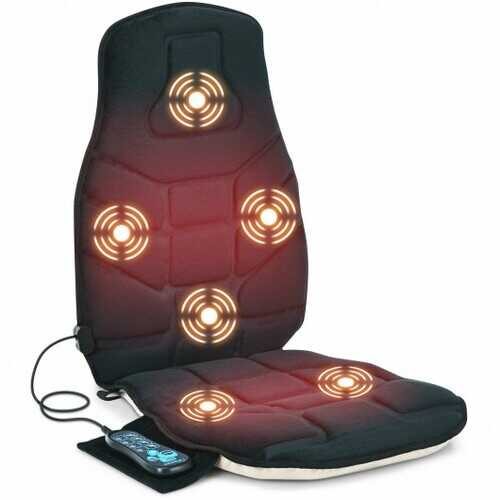 Seat Cushion Massager with Heat and 6 Vibration Motors for Home