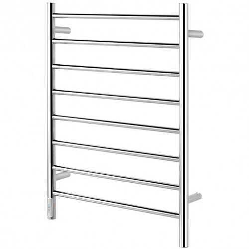 8-Bar Wall Mounted Towel Warmer Stainless Steel Towel Rack