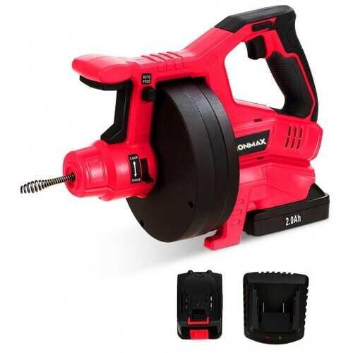 18V Cordless Plumbing Cleaner Drain Snake Auger Drill