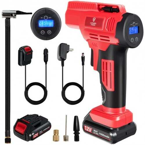 12V Portable Cordless Tire Inflator Air Compressor