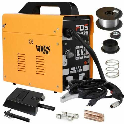 MIG 130 Automatic Feed Welding Machine w/ Free Mask