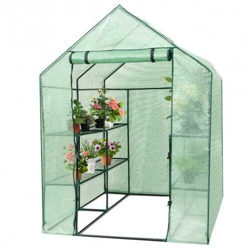 8 shelves Mini Walk In Greenhouse Outdoor Gardening Plant Green House