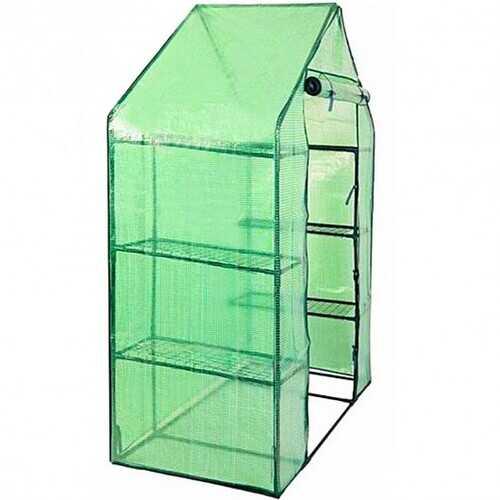 Portable Mini Outdoor Walk-in 4 Shelves Greenhouse