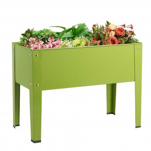 """24.5"""" x12.5"""" Outdoor Elevated Garden Plant Stand Flower Bed Box"""