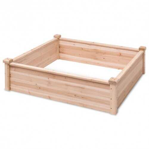 Wooden Square Garden Vegetable Flower Bed