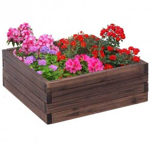 Square Raised Garden Bed Flower Vegetables Seeds Planter