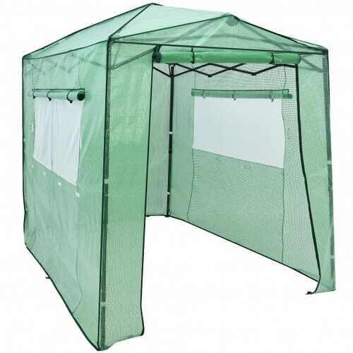 6' x 8' Portable Walk-in Greenhouse W/Window-Green