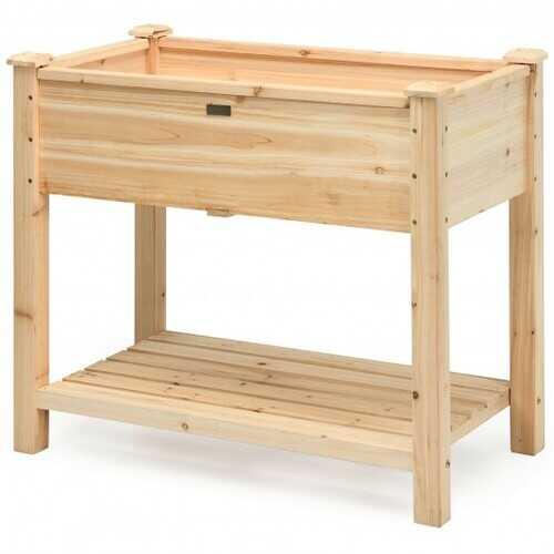 Raised Garden Elevated Wood Planter Box Stand
