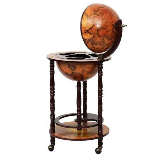 16th Century Wood Globe Wine Bar Stand