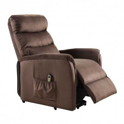 Electric Fabric Lift Chair Recliner and Footrest /w Remote Control