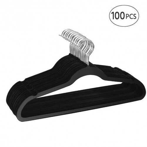 100 pcs Velvet Clothes Suit/Shirt/Pants Hangers