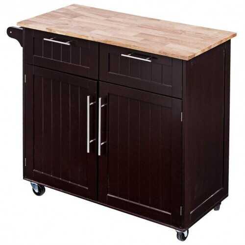 Heavy Duty Utility Modern Rolling Kitchen Cabinet Cart