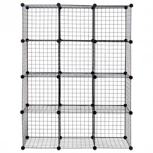DIY 12 Cube Grid Wire Cube Shelves