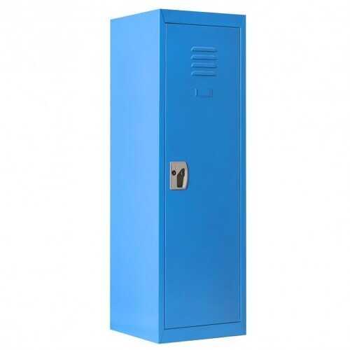 """48"""" Kid Safe Storage Children Single Tier Metal Locker-Blue"""