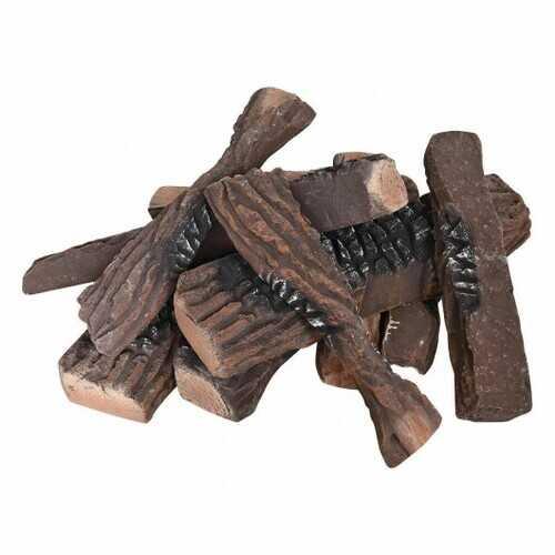 10 pcs Ceramic Propane Fireplace Imitation Wood