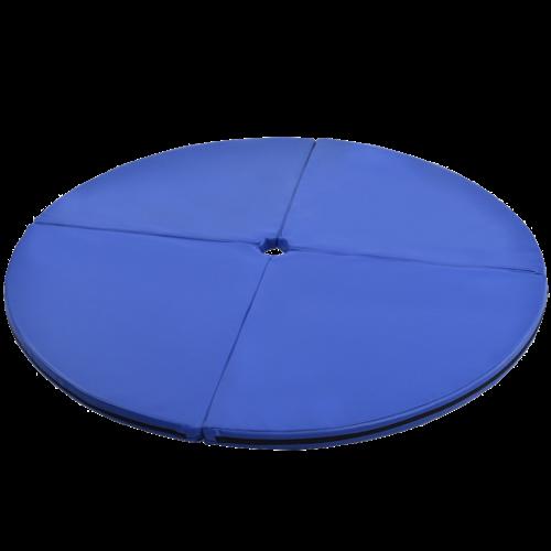 """2"""" Foldable Pole Dance Yoga Exercise Safety Cushion Mat-Blue"""