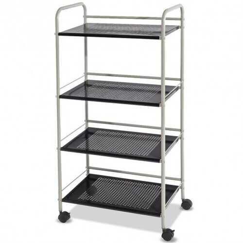 4 Tiers Rolling Cart Storage Display Rack