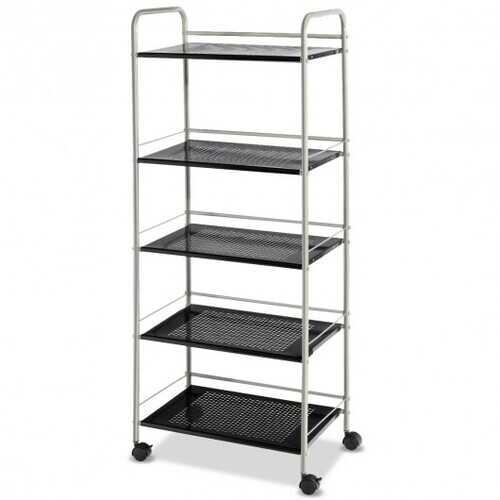 5 Tiers Storage Cart Rack Utility Shelf