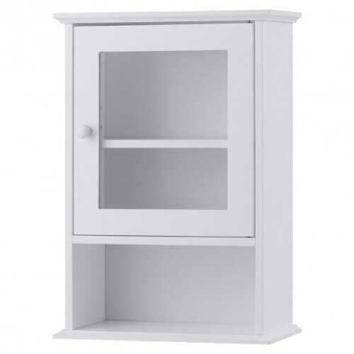 Bathroom Wall Mounted Adjustable Hanging Storage Medicine Cabinet