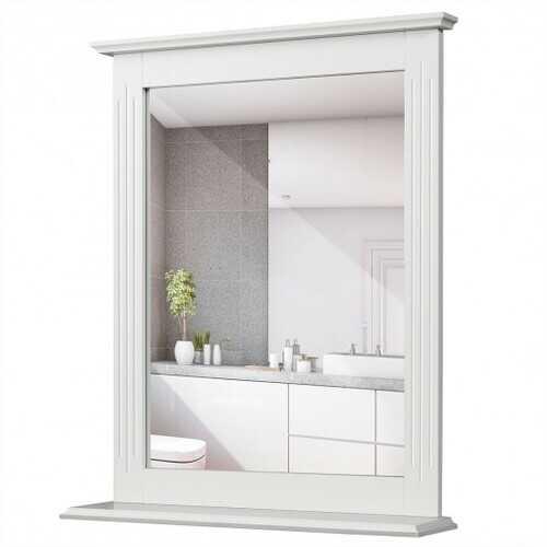 Bathroom Wall Mirror with Shelf Vanity Makeup Mirror