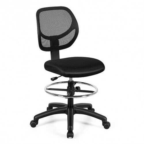 Adjustable Height Mid Back Mesh Drafting Office Chair