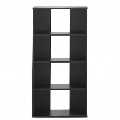 4-tier Bookcase One Fixed and Three Adjustable Shelves
