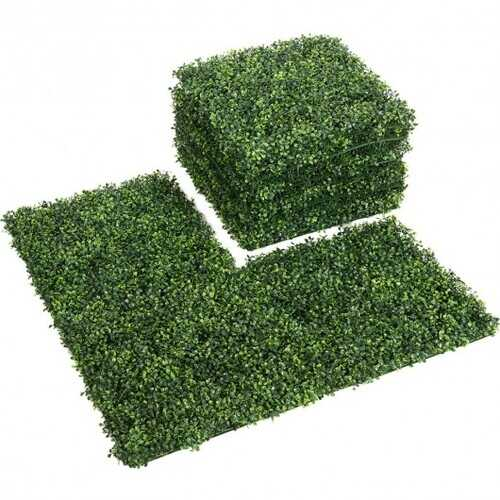 """12 Pcs 20"""" x 20"""" Artificial Plant Wall Panel Hedge Privacy Fence"""